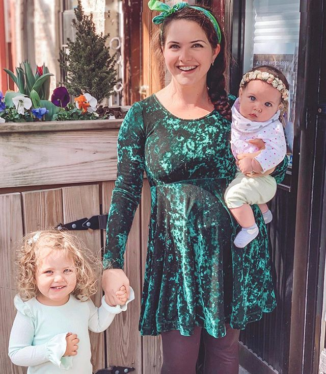 Mama's lucky charms 🍀 Irish or not, I'll take all the hugs and kisses these girls will give me! Happy St. Patty's Day! 💚