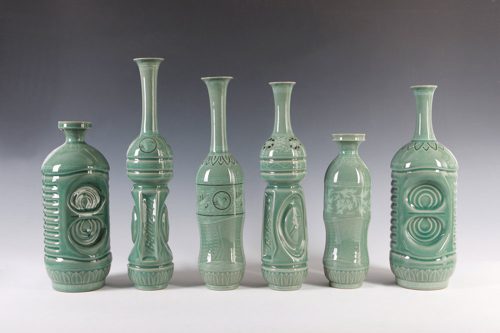 4. made in Korea eui-jeong-yoo-celadon-bottle-in-the-shape-of-p-e-t-bottle-celadon-12x12x30cm8-5x7x40cm-2013-photographer-kim-chang-hyoun.jpg