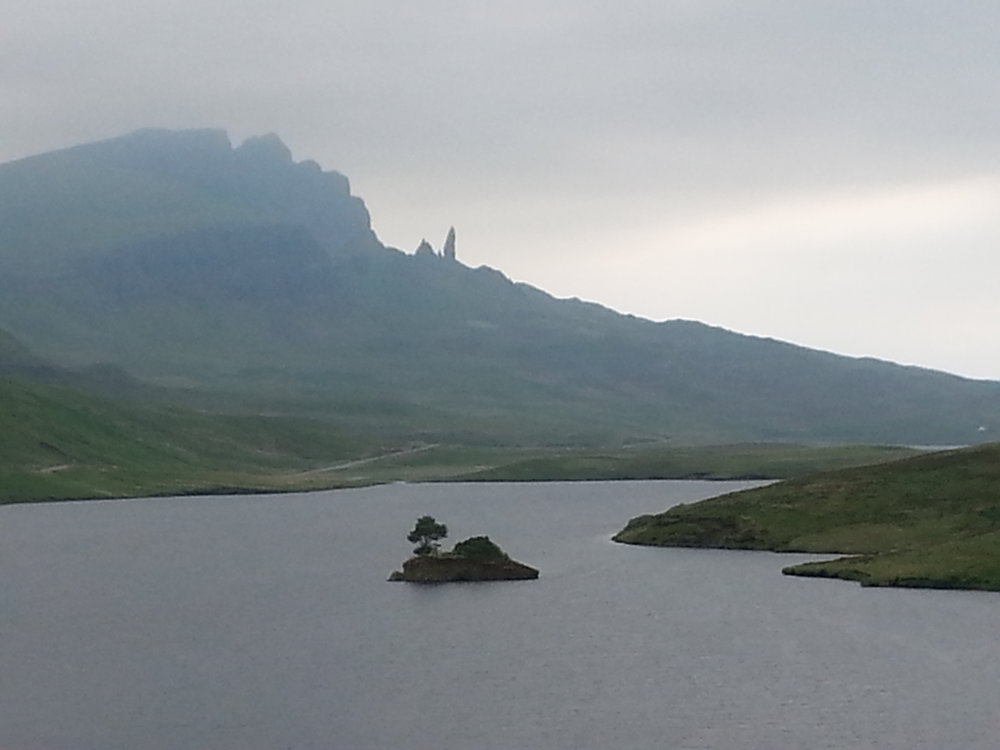 The Old Man of Storr,  a naturally occurring standing rock formation on the Isle of Skye, Scotland.