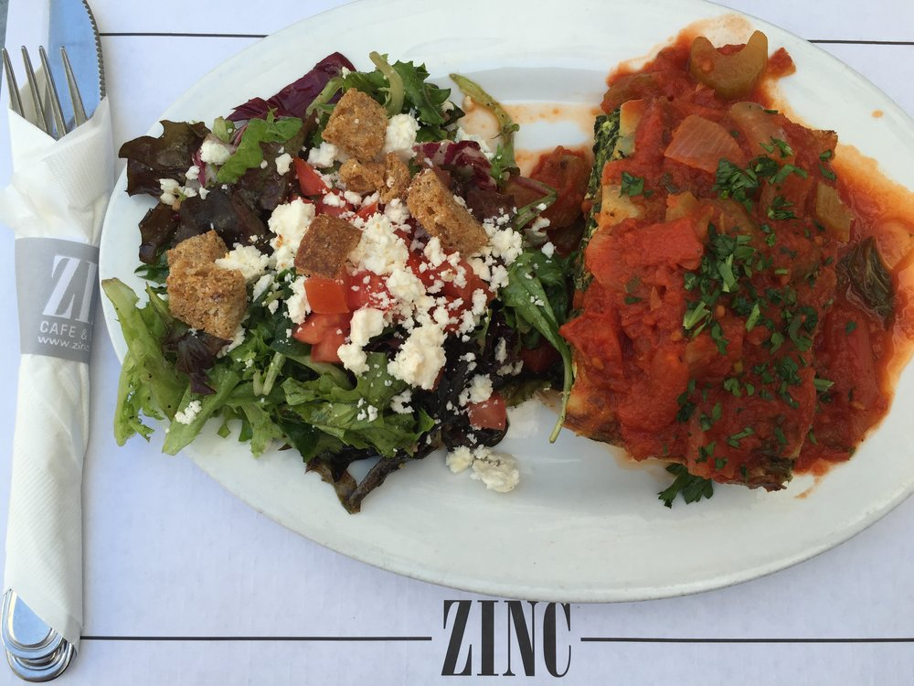 Lunch after Amy's photoshoot. If you ever go to Zinc in LA, order the Lasagna.
