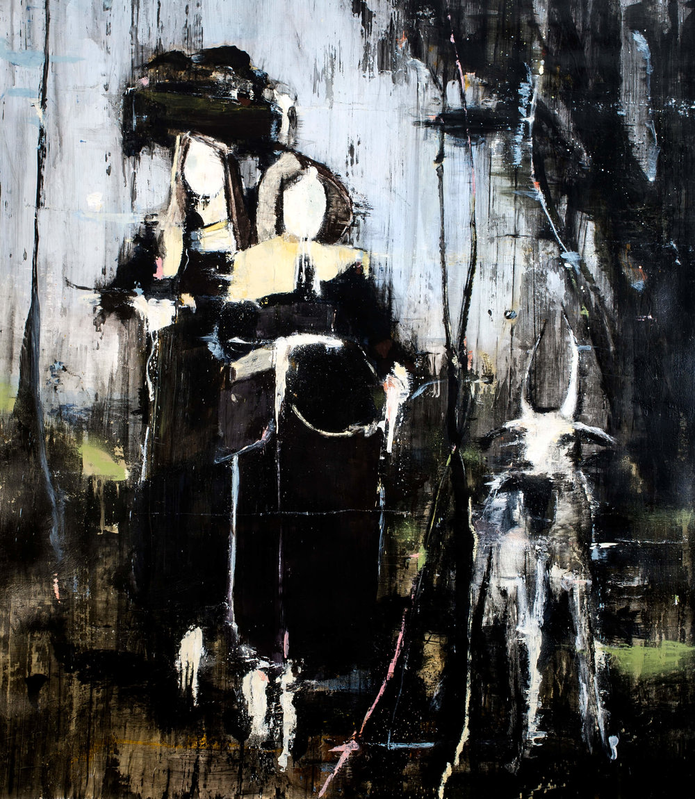 Homeland Girls, 2016, oil on canvas, 230x200 cm