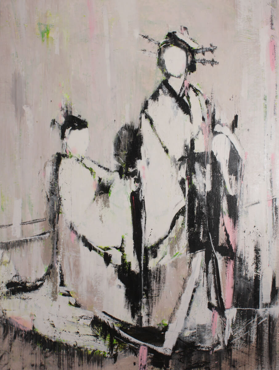 Geisha pink, 2015, oil on canvas, 200x140 cm