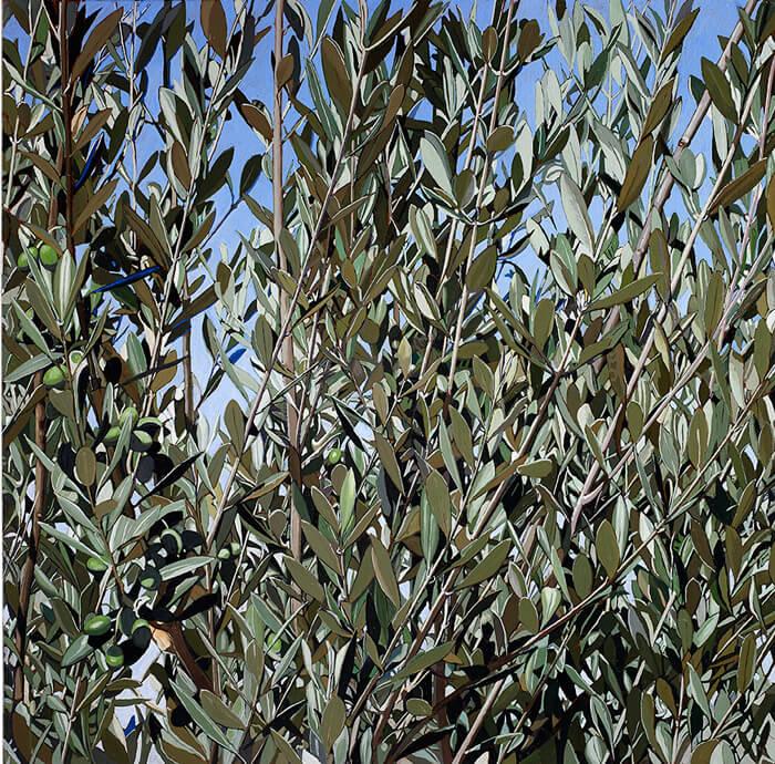Monte delle beatitudini - settembre 2015 - olio su legno multistrati  di betulla cm 85x135