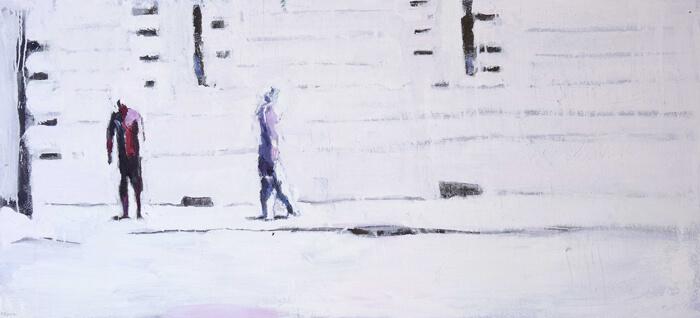 Canicola1, 2012, olio su tela, 65x140 cm