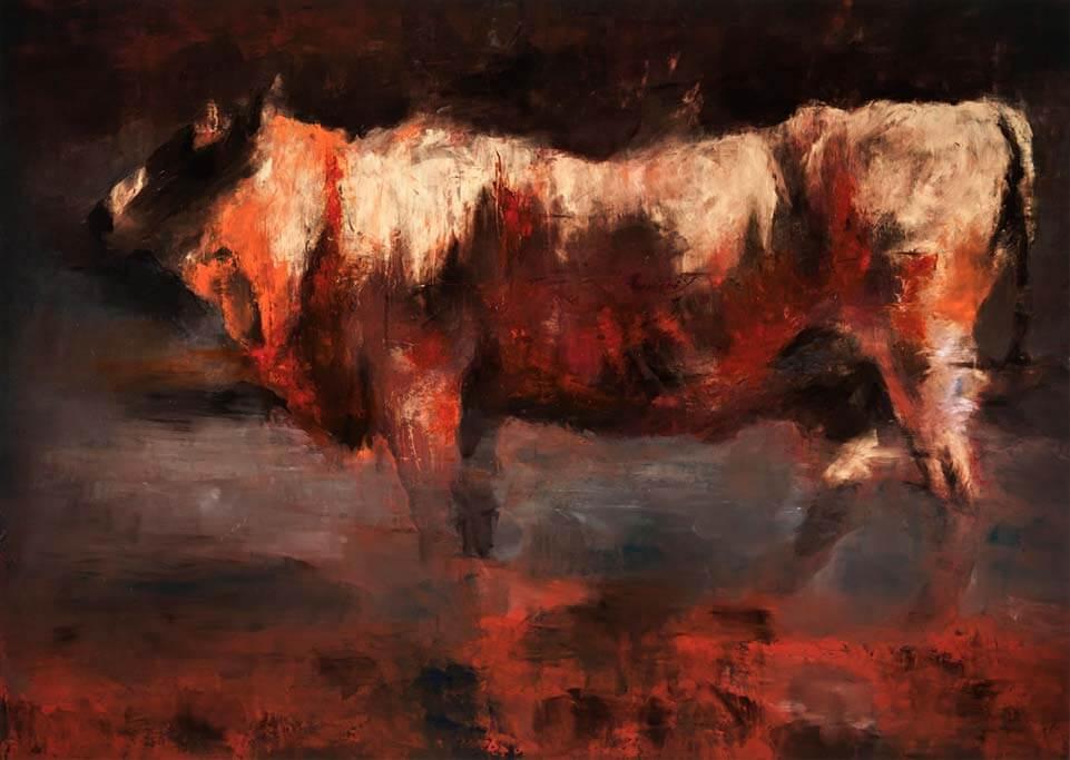 Golden calf, 2015, olio su tela, 170x240 cm