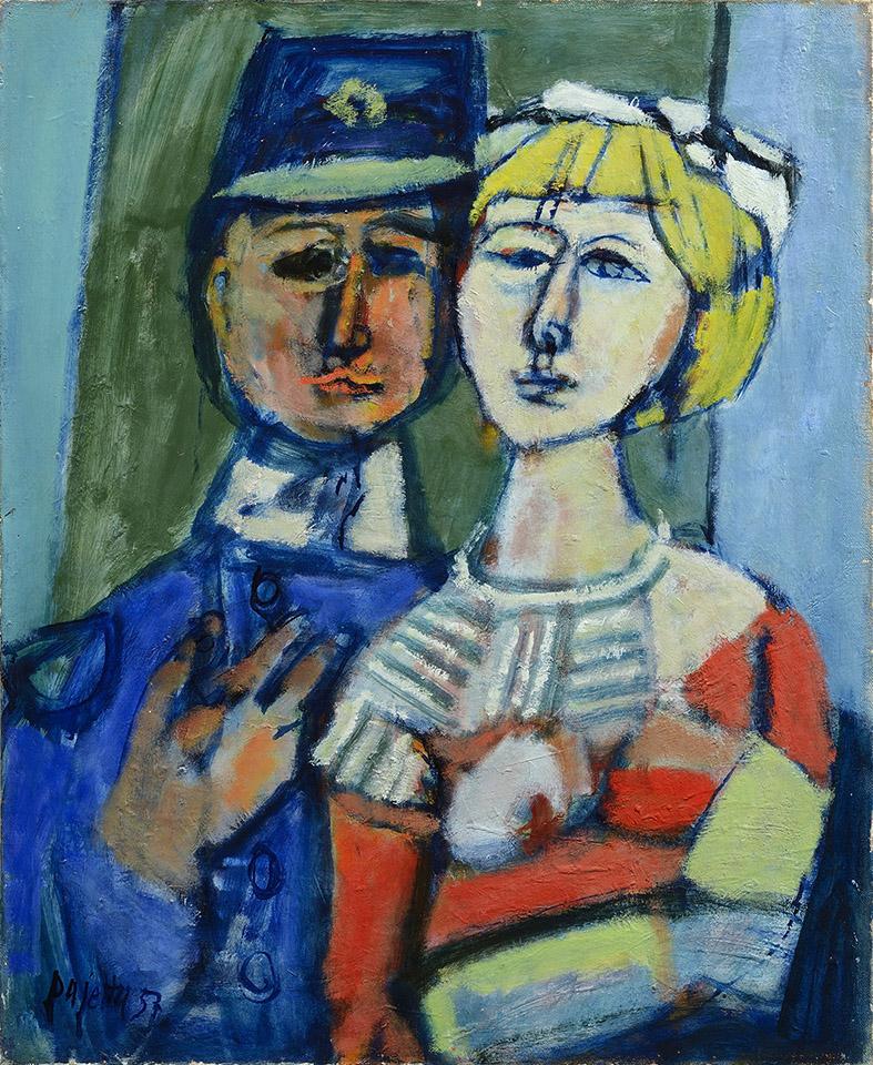 I fidanzati, 1957 olio su tela, 80 x 60 cm