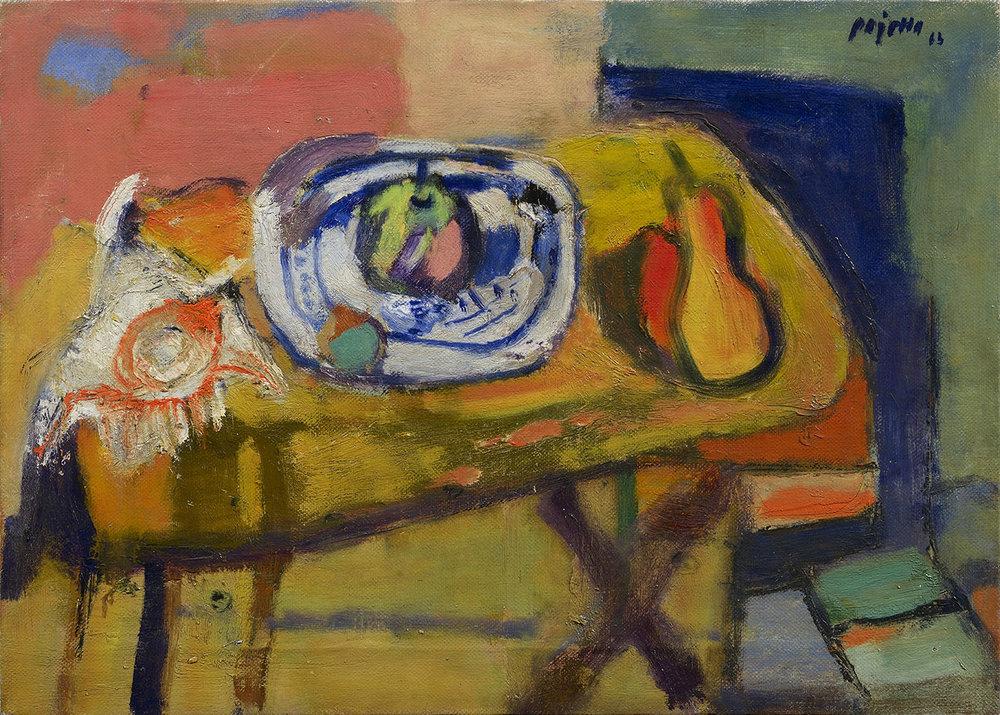 Natura morta con conchiglia, 1963 olio su tela, 50 x 70 cm