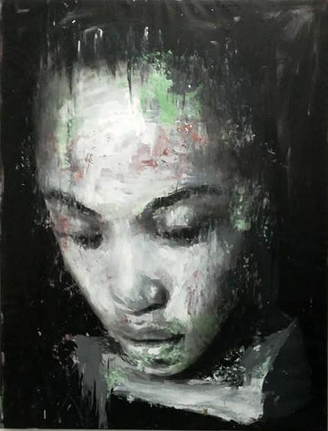 Lei, 2018, acrilico su tela, 193x151 cm