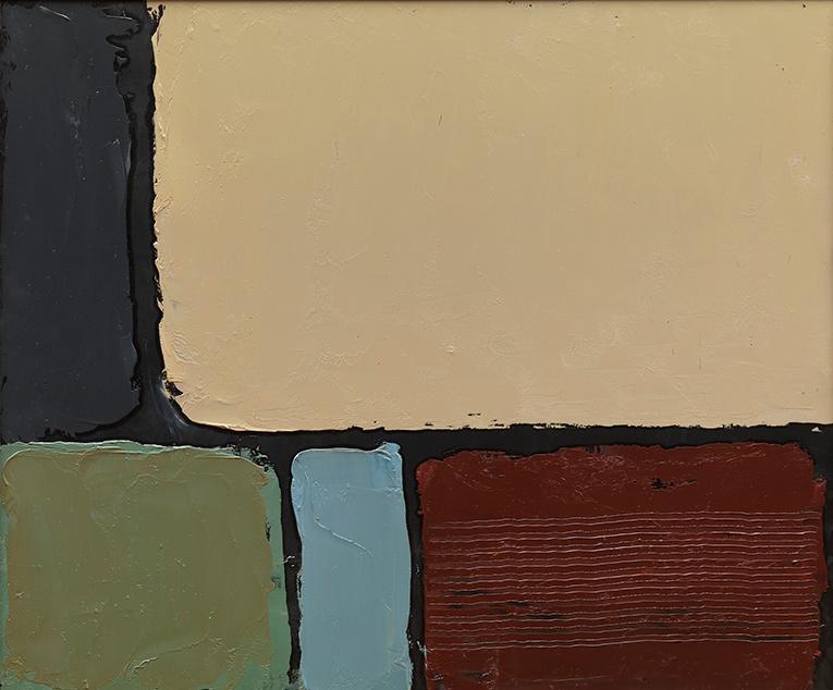 Finestra 1 (dicembre), olio su pannello, 50x60 cm