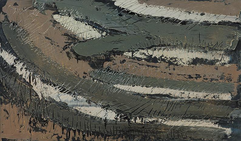 Niger 7, 1982, olio su pannello, 65X100 cm
