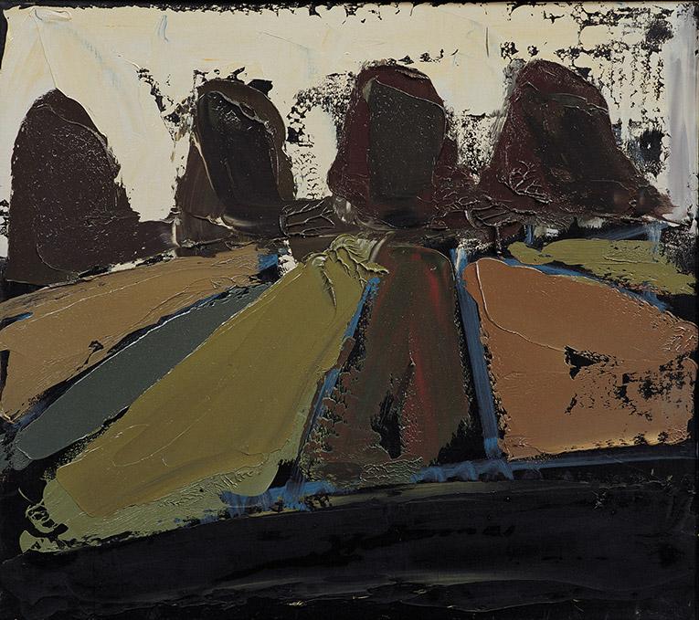 Estate 16, 1981, olio su pannello, 75x85 cm