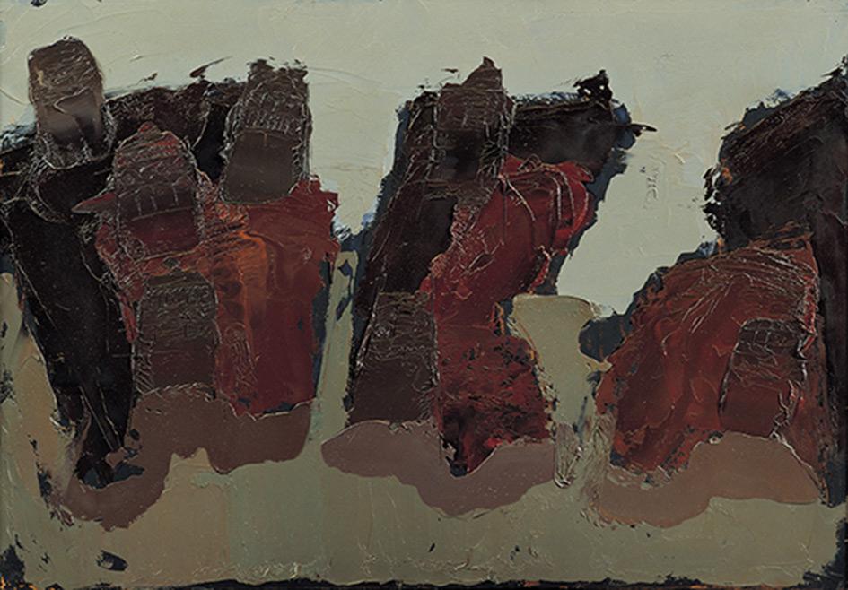 Yemen Rocce Deserto 4, 1971, olio su faesite, 70x100 cm