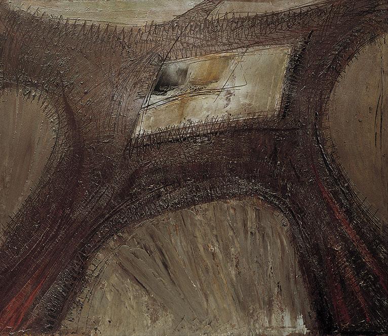 Tour Eiffel 3, 1955,  olio su masonite, 122x140 cm