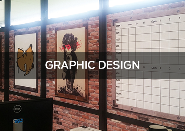Our in-house graphic design studio, run by qualified and very experienced staff can assist in client briefing and brainstorming, to concept development through to print ready artwork no job is too complex or too small.