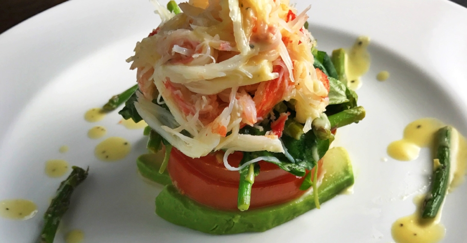 Snow Crab Salad with a Dijon Lemon Vinaigrette