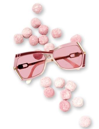 Peep Eyewear - Candy by Cazal 1980s Vintage Sunglasses, Millennial Pink,