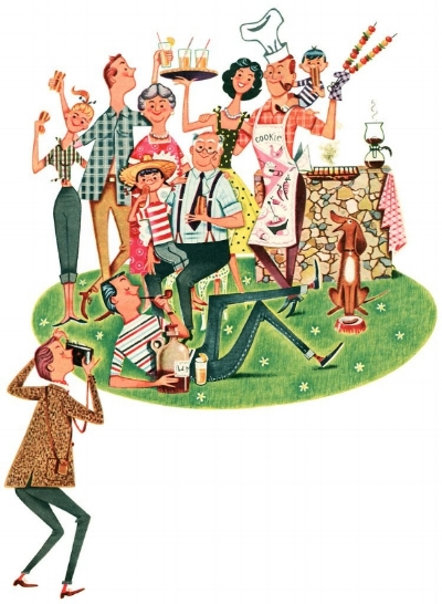 Vintage Ferguson Dewar Illustration 1950s