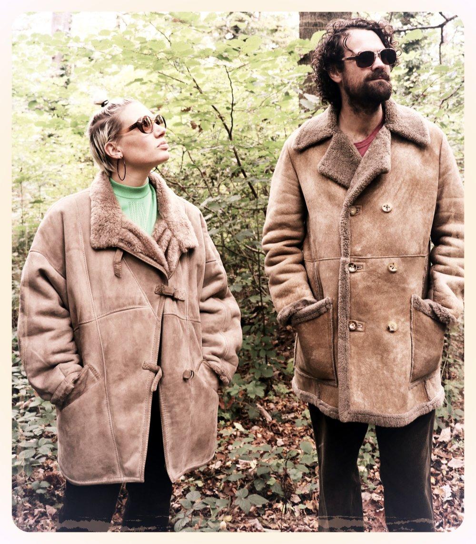 Peep Eyewear, Vintage Sunglasses, 1970s, Dawn, AW Sheepskin coat, Autumn Winter collection