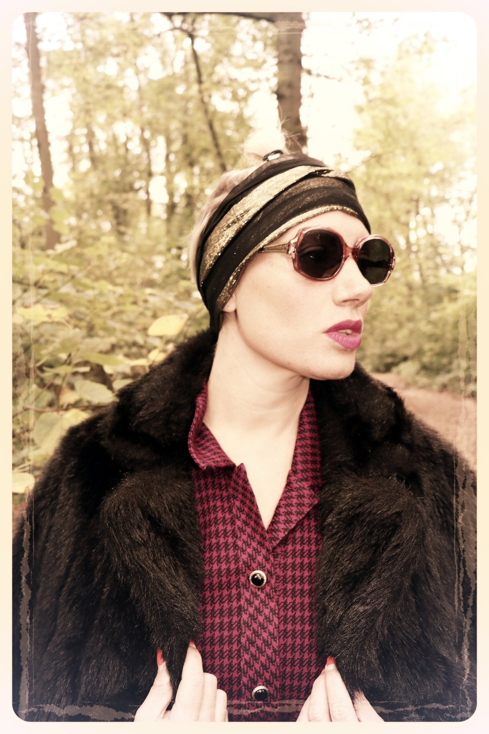 Peep Eyewear, Vintage Sunglasses, Violet, 1970s, Autumn Winter collection