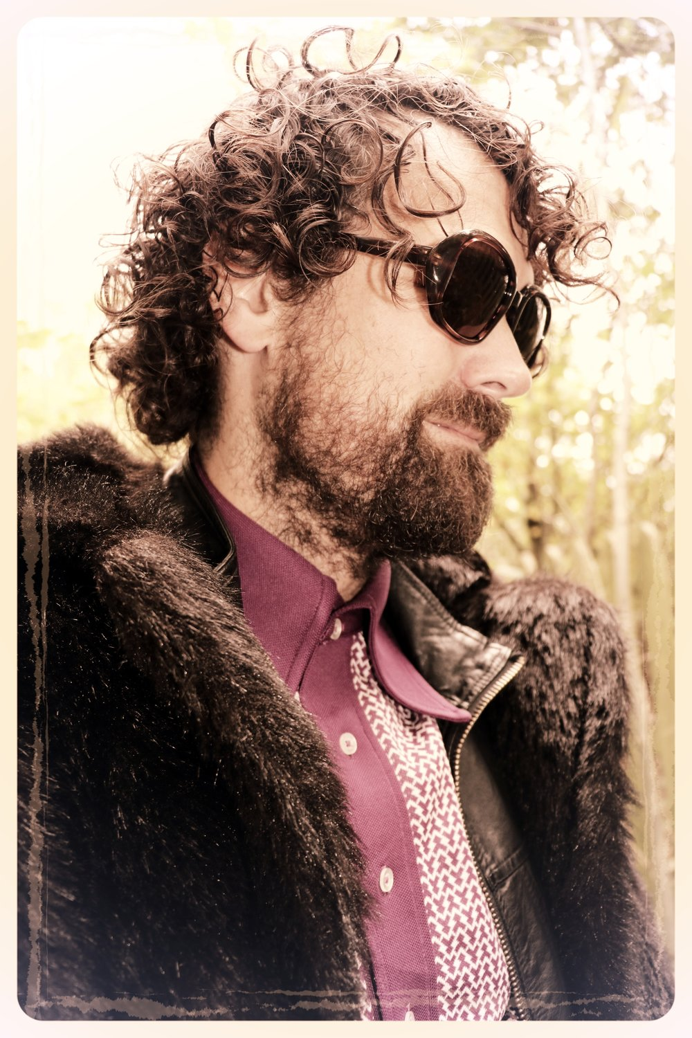 Peep Eyewear, Head shot, Vintage Sunglasses, ronnie worn with fur coat, Autumn Winter Collection
