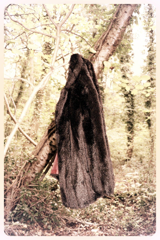 Peep Eyewear, Fur coat hanging in a tree, Autumn Winter Collection