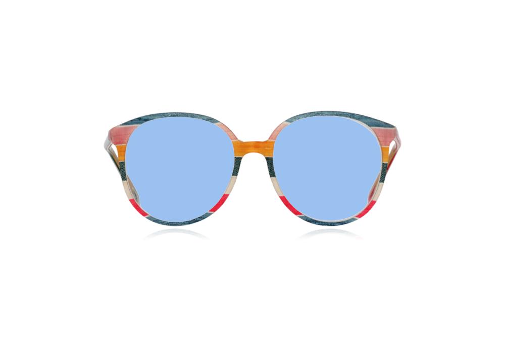Peep Eyewear, Vintage Glasses, 1980s, Silk, Oversize Front View Blue Lenses.png