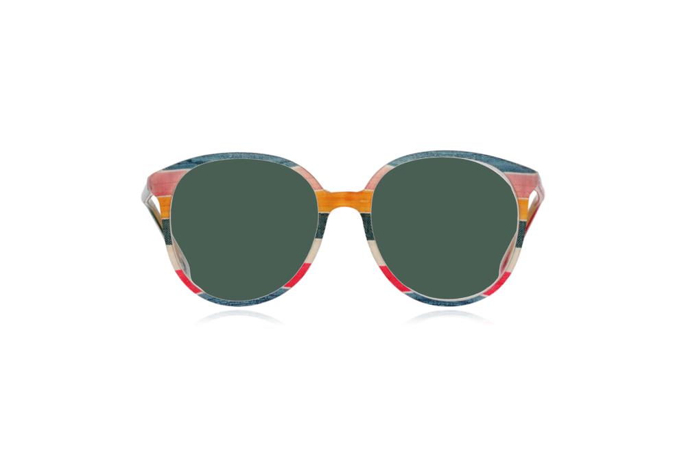Peep Eyewear, Vintage Glasses, 1980s, Silk, Oversize Front View Green Lenses.png