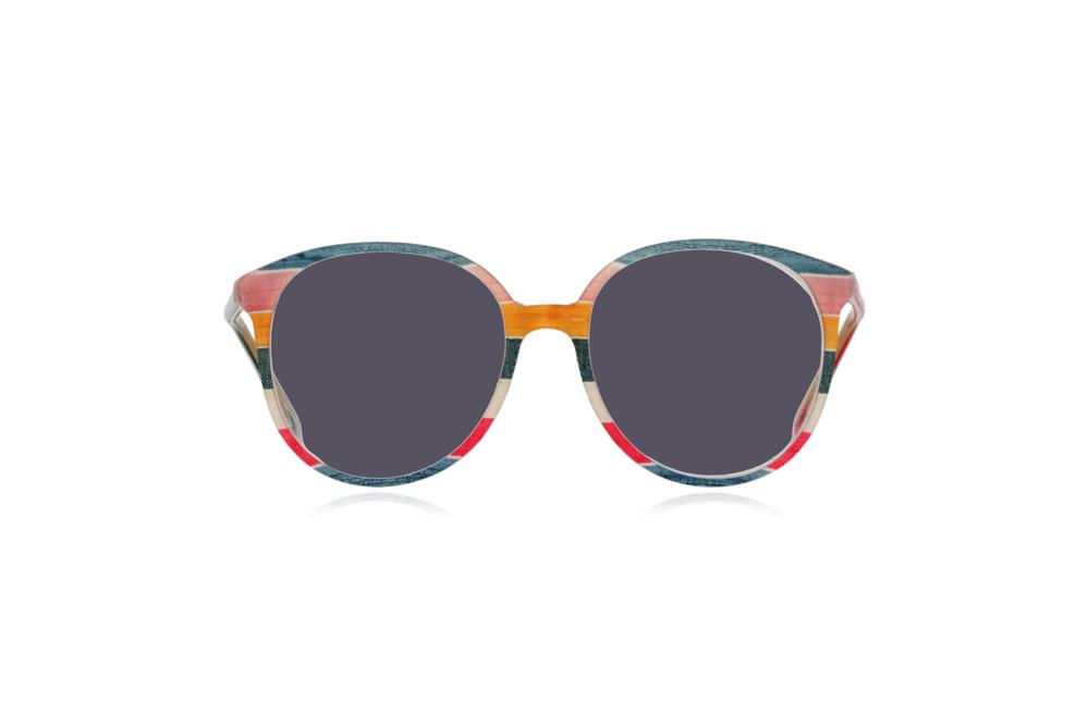 Peep Eyewear, Vintage Glasses, 1980s, Silk, Oversize Front View Grey Lenses.png