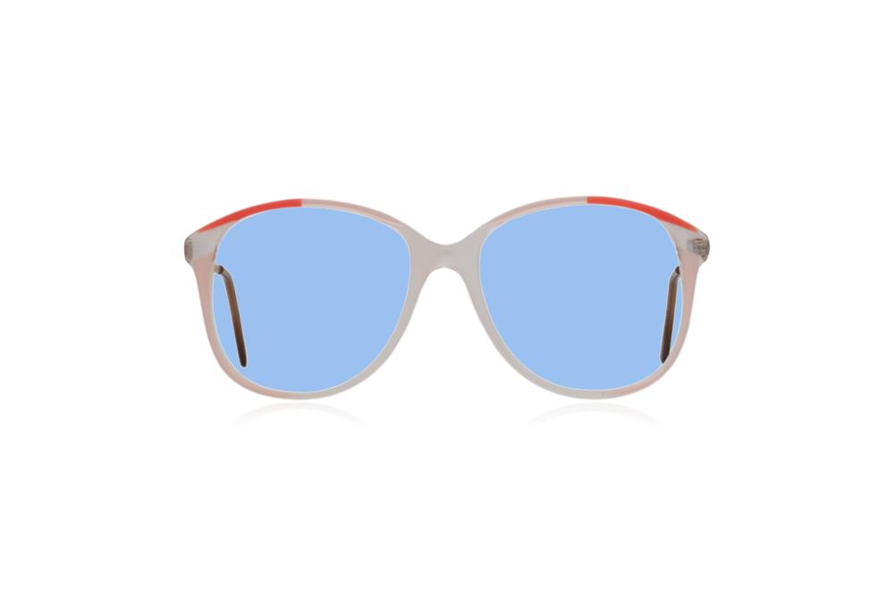 Peep Eyewear, Vintage Glasses, 1980s Oversize Frames, Blue Lenses.png