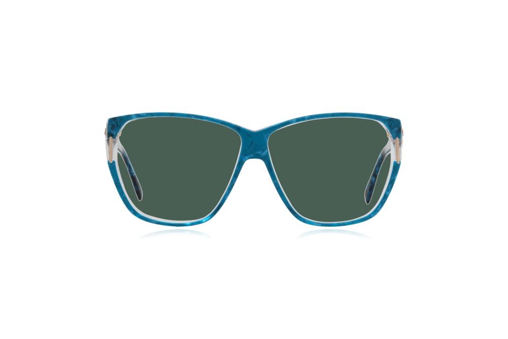 Peep Eyewear, Vintage Glasses, Silhouette 1232, 80s, Blue, Acetate, Green.png