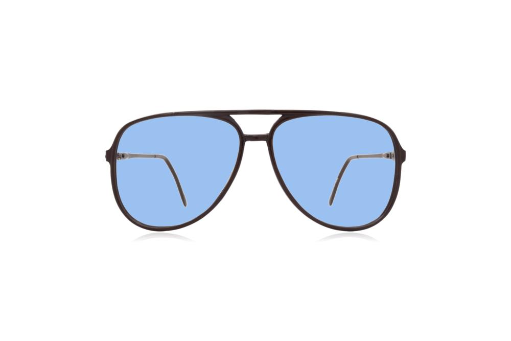 Peep Eyewear, Vintage Glasses, Aviator, 1980s, Black Carbon, Blue.png