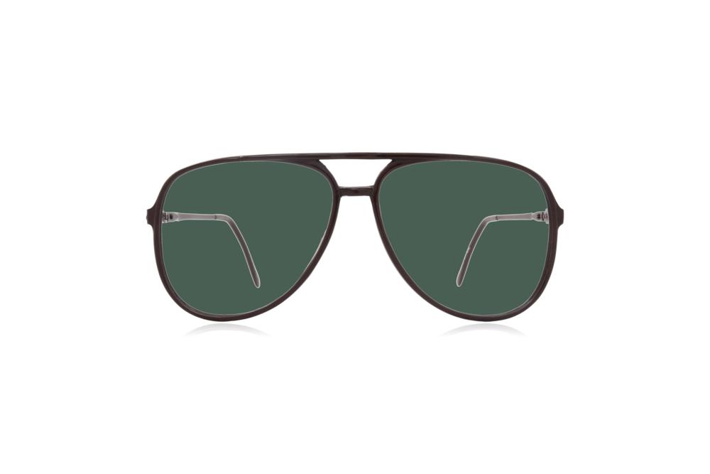 Peep Eyewear, Vintage Glasses, Aviator, 1980s, Black Carbon, Green.png