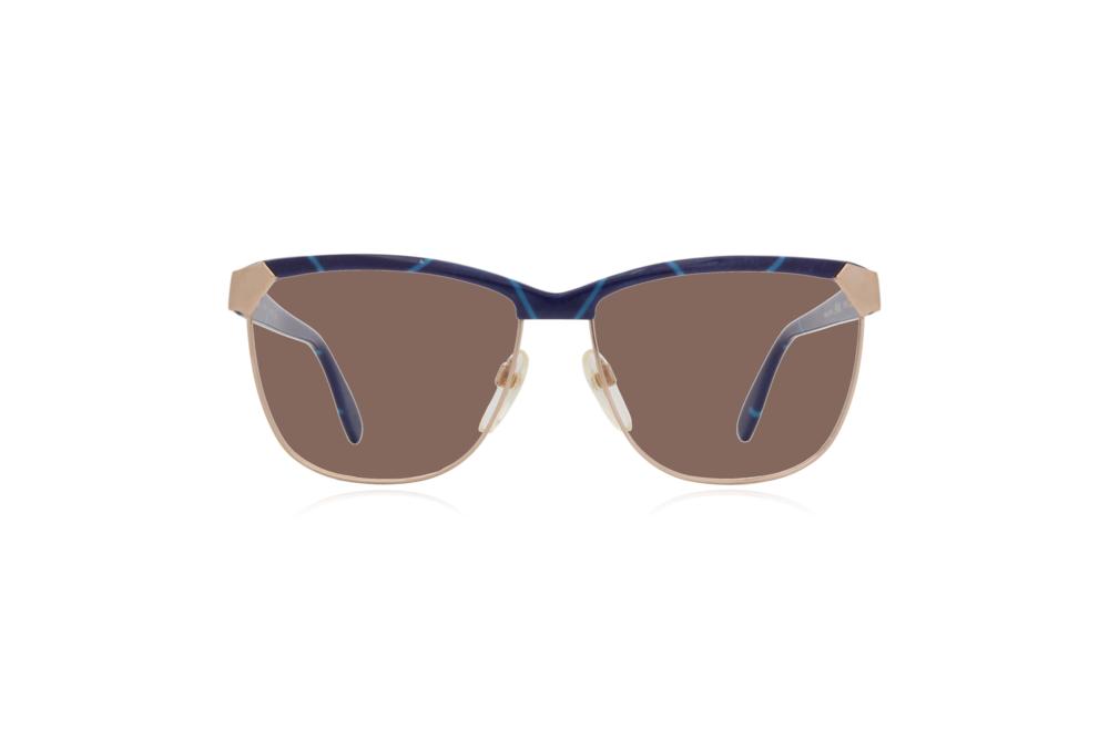 Peep Eyewear, Vintage Glasses, 80s, Silhouette 6090, Gold, Front, brown.png