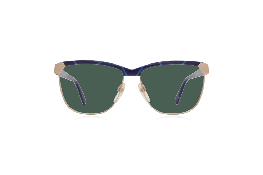 Peep Eyewear, Vintage Glasses, 80s, Silhouette 6090, Gold, Front, Green.png