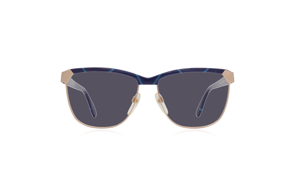 Peep Eyewear, Vintage Glasses, 80s, Silhouette 6090, Gold, Front, Grey.png