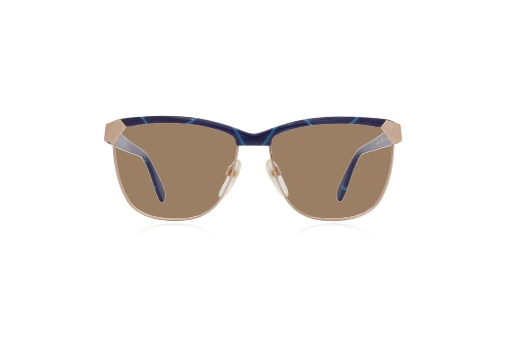 Peep Eyewear, Vintage Glasses, 80s, Silhouette 6090, Gold, Front, Sahara.png