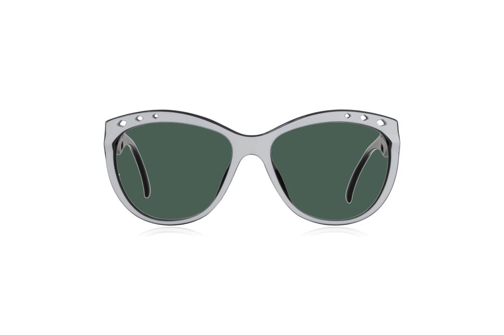 Peep Eyewear, Vintage Glasses, 80s, Saphira 4169, German, Front, Green.png