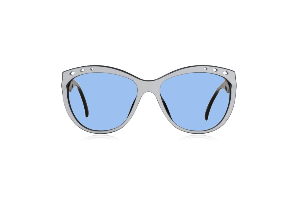 Peep Eyewear, Vintage Glasses, 80s, Saphira 4169, German, Front. Blue.png