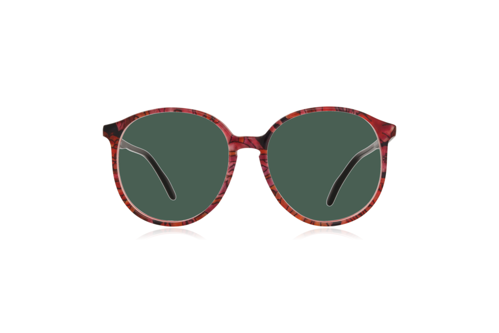 Peep Eyewear, Vintage Glasses, Couture 6261 Col V8, Front Green.png