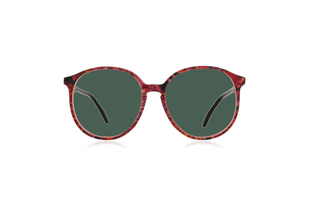 Peep Eyewear, Vintage Glasses, Couture 6261 Col V8, Front Green.png
