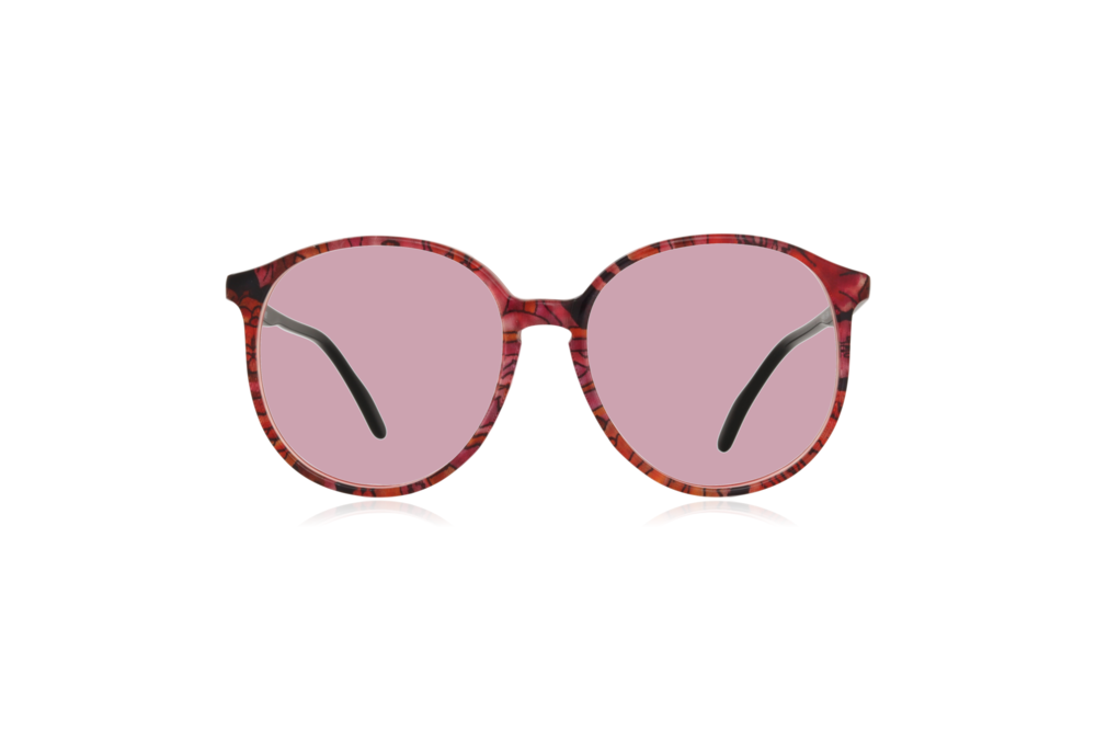 Peep Eyewear, Vintage Glasses, Couture 6261 Col V8, Front Pink.png