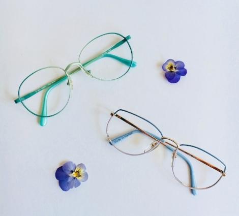 Peep Eyewear Vintage Glasses Metallic frames