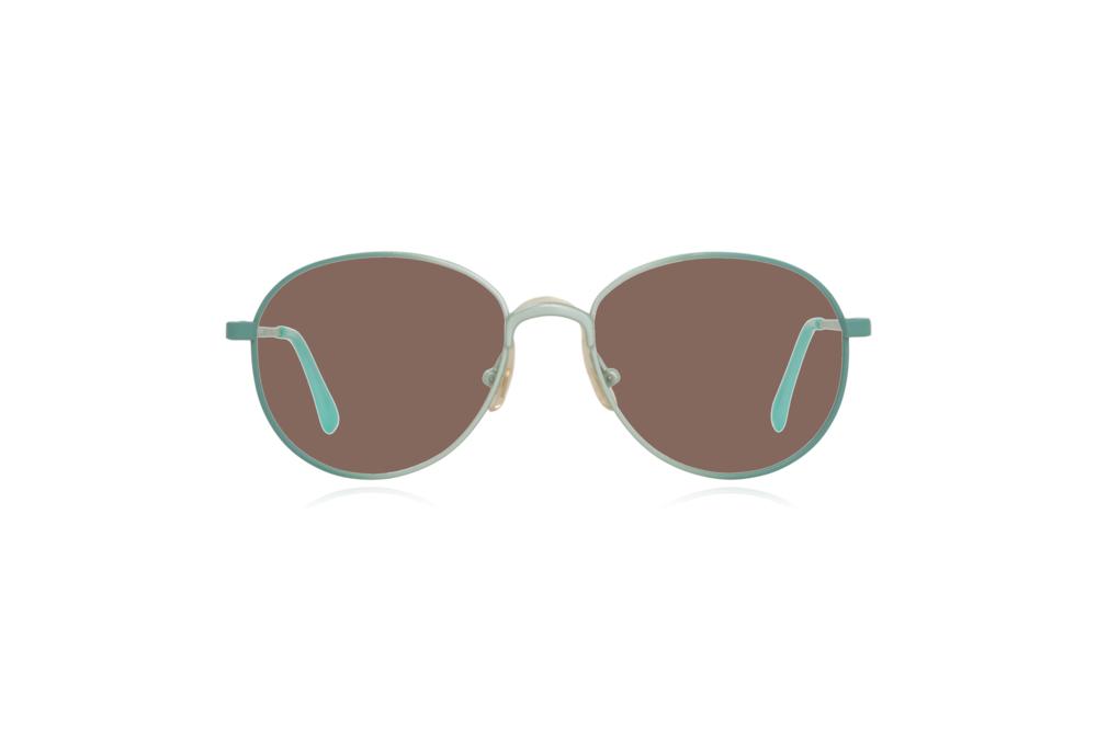 Peep Eyewear, Vintage Glasses, Round, Mint Green, Candy, Brown.png
