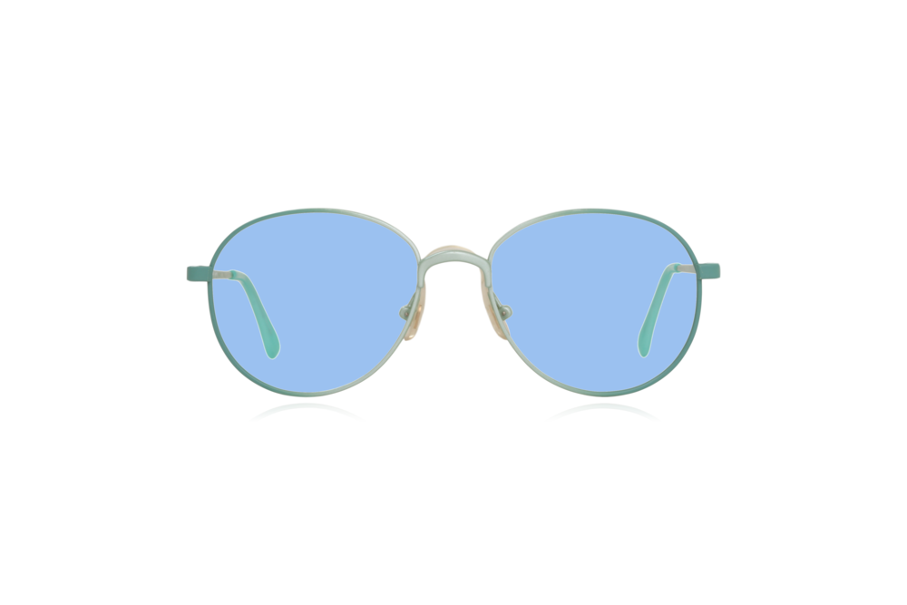 Peep Eyewear, Vintage Glasses, Round, Mint Green, Candy, Blue.png
