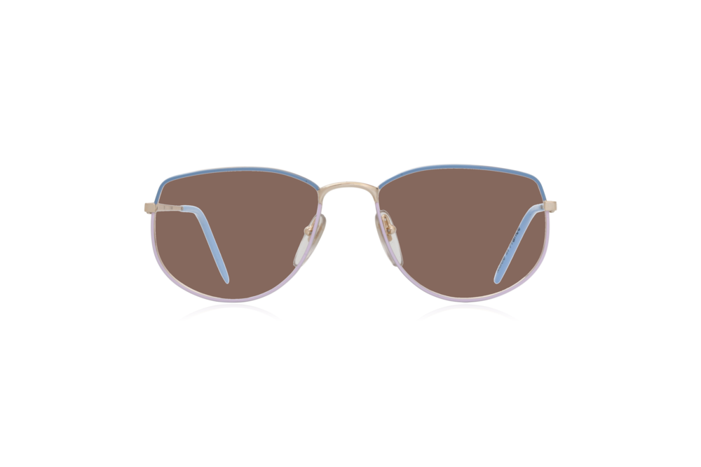 Peep Eyewear, Vintage Glasses, Vivienne, Blue Purple, Front, Brown.png