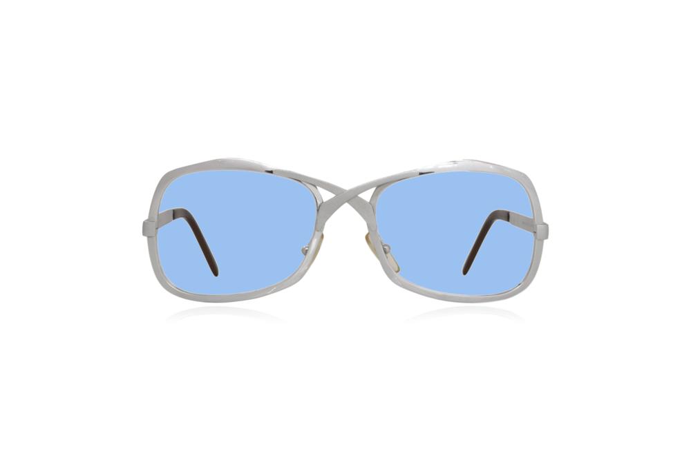 Peep Eyewear, Vintage Glasses, Metal, Silver, Blue.png