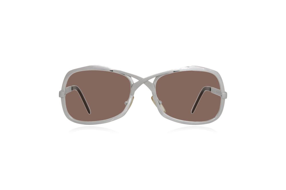 Peep Eyewear, Vintage Glasses, Metal, Silver, Brown.png
