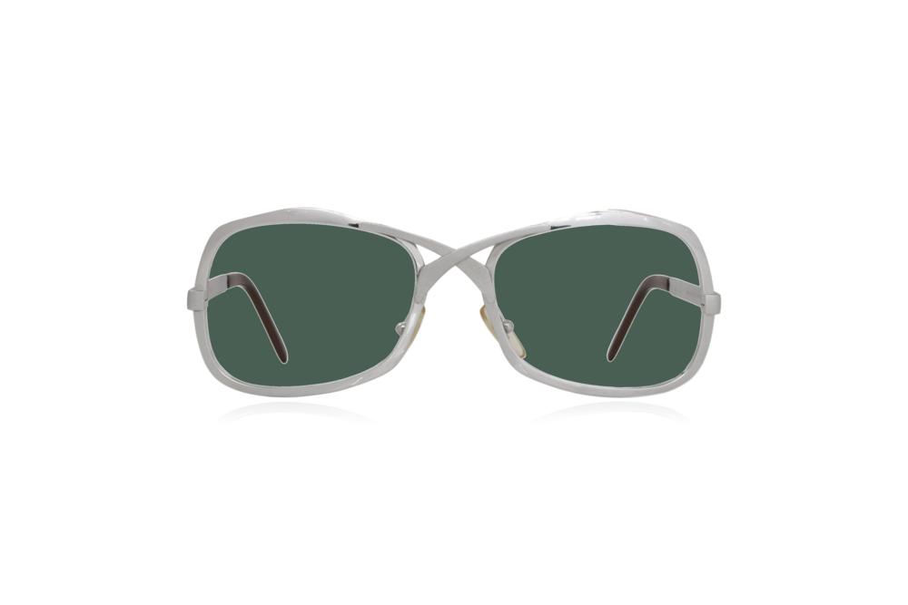 Peep Eyewear, Vintage Glasses, Metal, Silver, Green.png