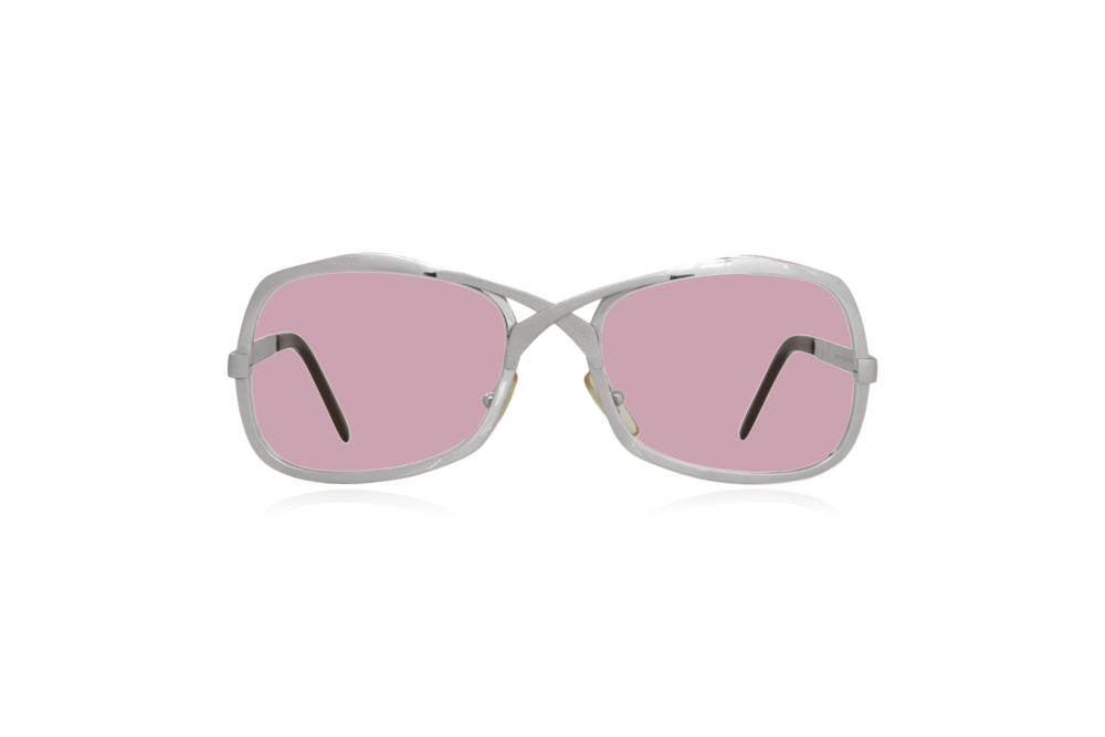 Peep Eyewear, Vintage Glasses, Metal, Silver, Pink.png