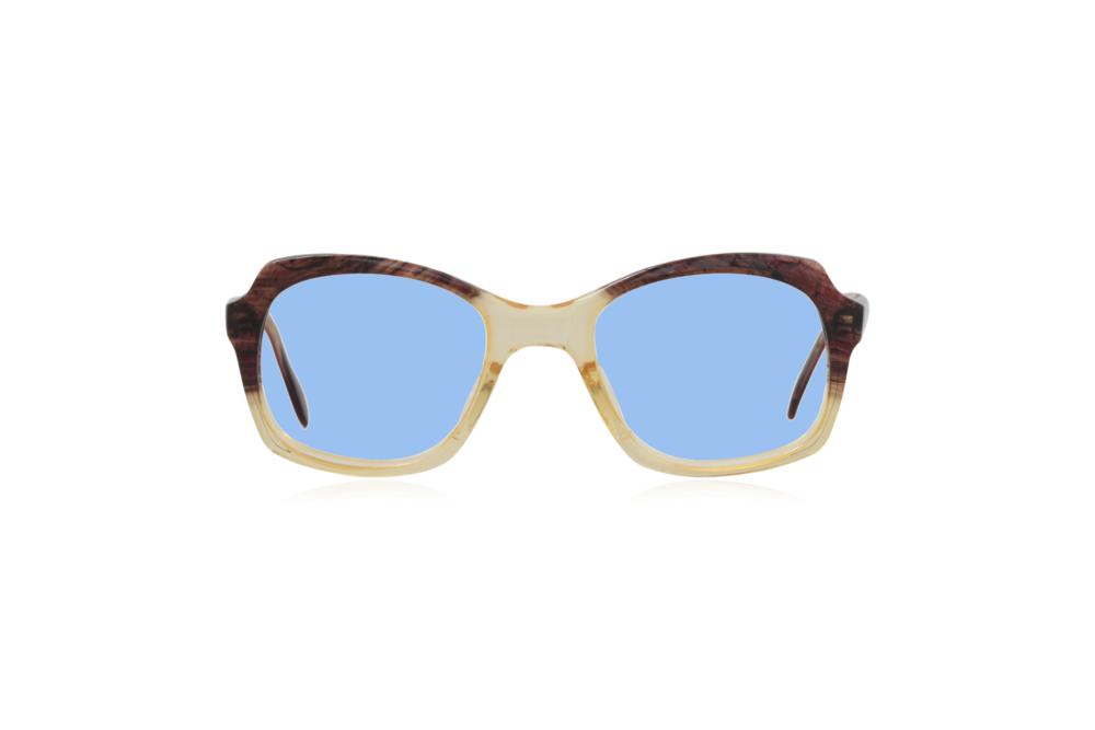 Peep Eyewear, Vintage Glasses, 1950s, Brown and Yellow, Blue.png